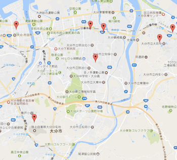 ACEのグーグルマップ連携